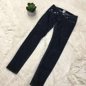 True Religion Skinny Jeans Sz 27 4 Wide Stitch